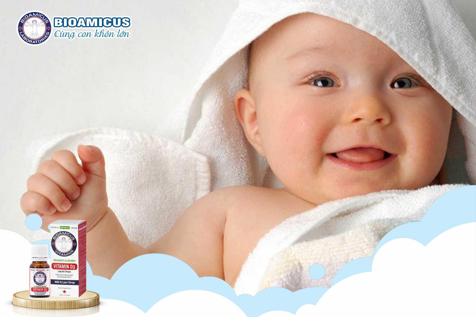 Cách dùng vitamin d3 cho trẻ sơ sinh