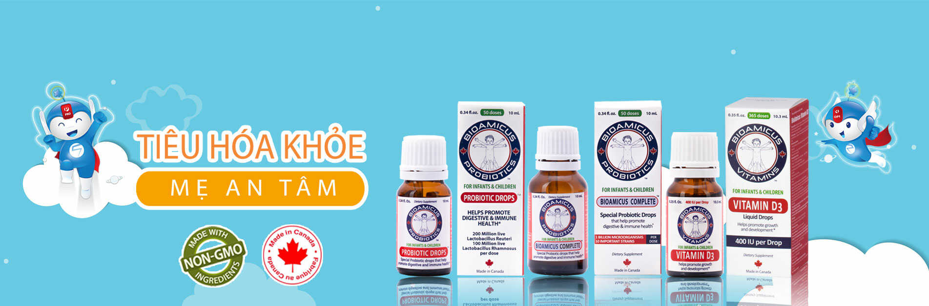 men vi sinh và vitamin Bioamicus Việt Nam