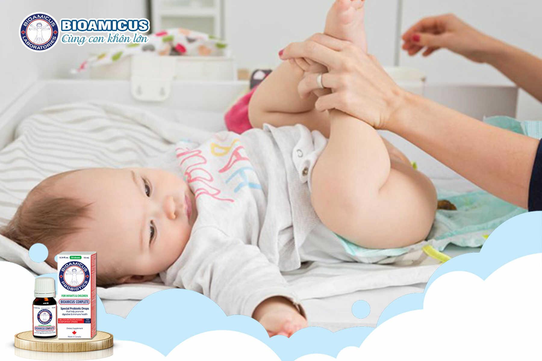 triệu chứng Tiêu chảy cấp ở trẻ sơ sinh