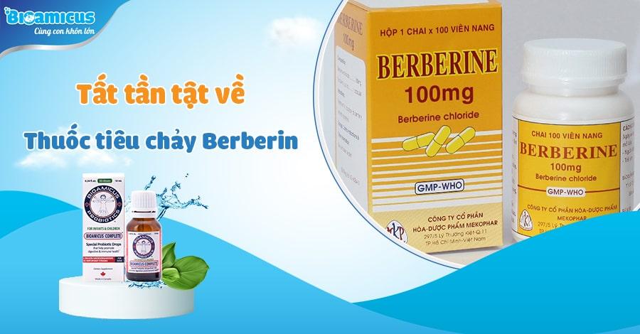 Thuốc tiêu chảy berberin