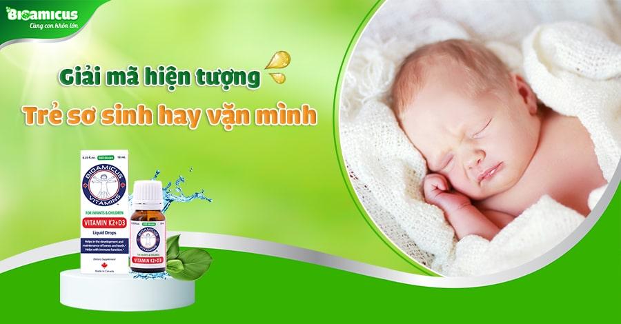 Trẻ sơ sinh hay giật mình