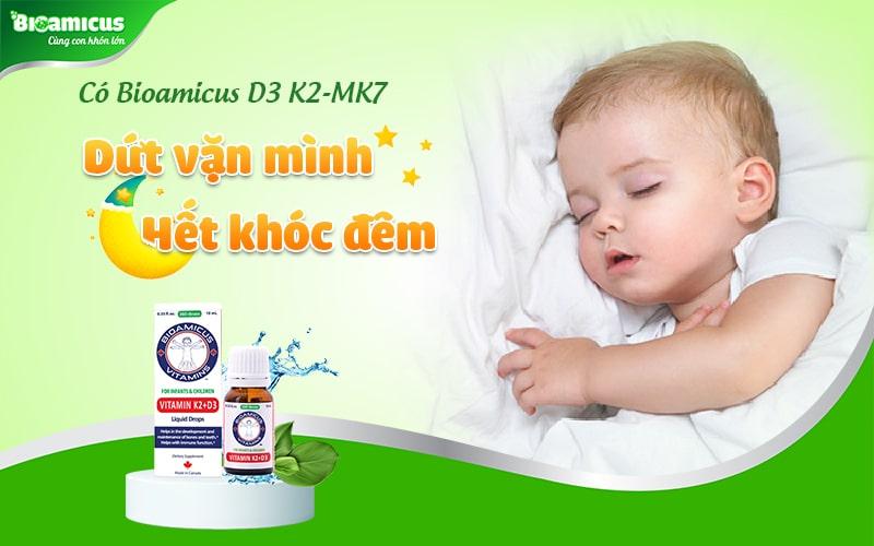 Bioamicus Vitamin D3 K2 trị vặn mình cho trẻ