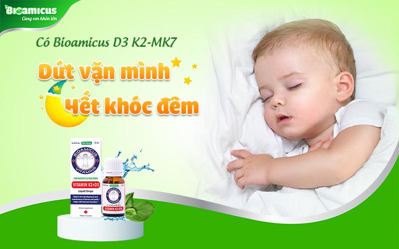 Vitamin D3 K2 cho trẻ khóc đêm thiếu chất